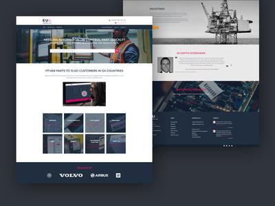 EU Automation Rebrand redesign website corporate rebrand
