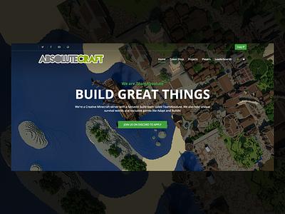 AbsoluteCraft Redesign redesign server website minecraft
