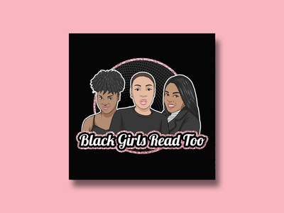 """Black Girls Read Too"" Podcast Cover Design"