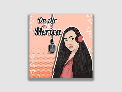 "Podcast Cover Artwork for ""On Air with Merica"""