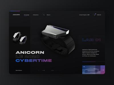 Neumorphic Anicorn Watches desktop app - dark mode watch watches darkapp dark ui skeuomorphism skeumorphic neumorphism neumorphic ux ui