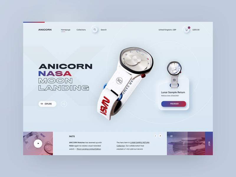 Neumorphic Anicorn Watches desktop app - light mode designtrends watch lightui skeuomorphism skeumorphic neumorphism neumorphic ux ui