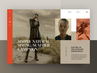 Carine fashion store - Simply Natural Spring/Summer Campaign web layout fashion clean typography modern ux ui