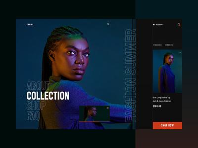 Carine fashion store - summer campaign v2 webdesign web layout fashion clean typography modern ux ui