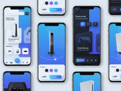 Playstation 5 experience collection gameui gameapp aftereffects principle for mac 3danimation 3d interaction animation neumorphic neumorphism ui neumorphism ux ui
