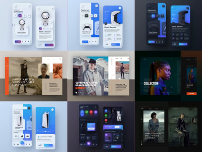 My top 9 of 2020 - Dawid Tomczyk principleformac aftereffect neumorphic gameui animation fashion clean typography modern ux ui