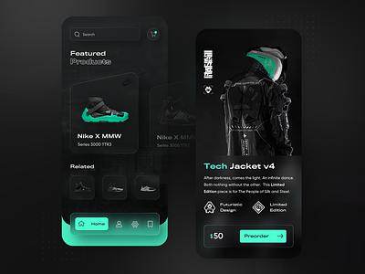 Damascus Apparel 2021 - redesign concept designtrends clothing techwear neumorphism glassmorphic glassmorphism ux ui