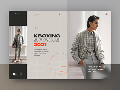 Carine fashion store - K Boxing 2021 Spring Campaign web layout fashion clean typography modern ux ui