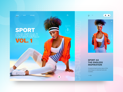 Sport Casual VOL.1 - design concept webdesign gradient sport fashion clean typography modern ux ui