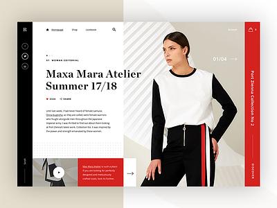 Roxane fashion store - alternative homepage ver webdesign web ux ui typography mondrianizm modern fashion layout clean