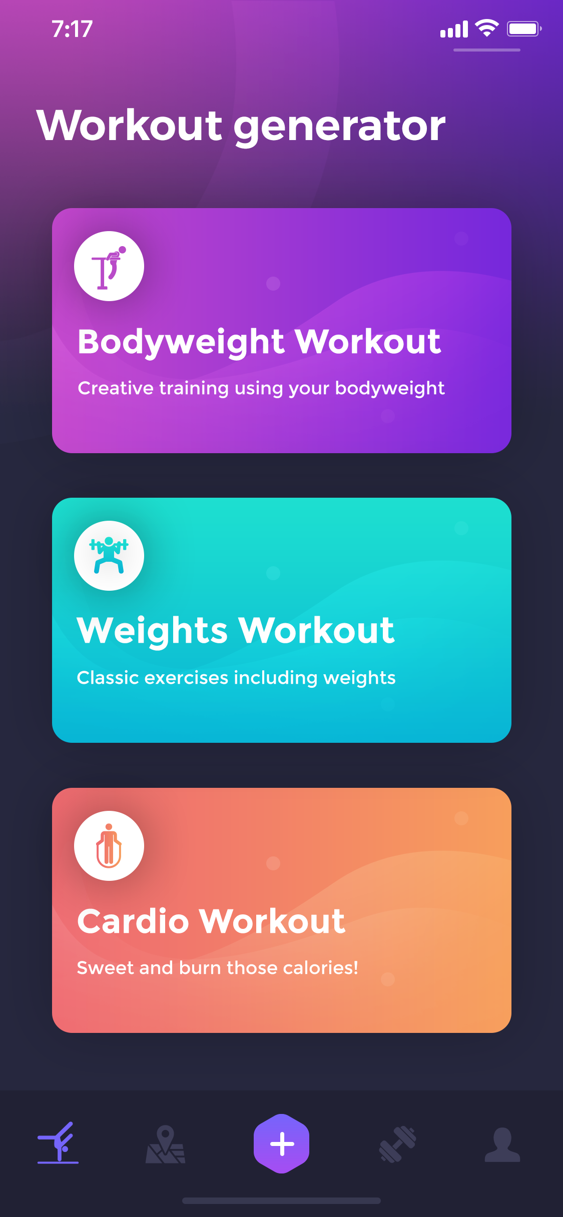 Beast barz workout generator screen1