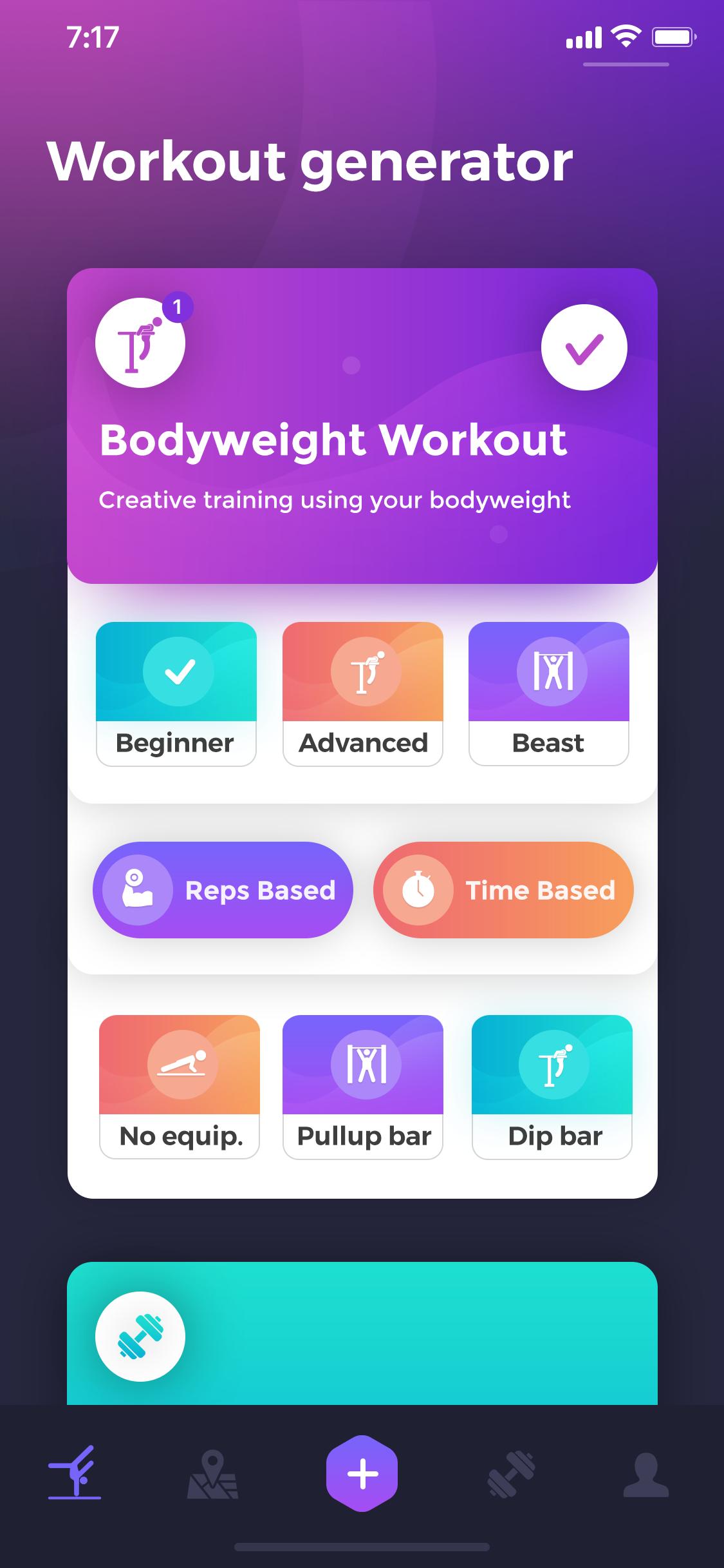 Beast barz workout generator screen2