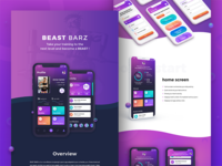 BEAST BARZ - behance presentation web fitness gym sport ux ui interface behance dark presentation app