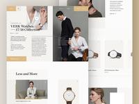 VERK homepage redesign concept