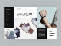 Anicorn Watches homepage redesign concept