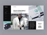 Anicorn Watches homepage v2 redesign concept