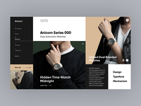 Anicorn Watches homepage v3 redesign concept
