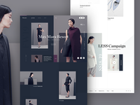 Roxane fashion store - full homepage desktop design