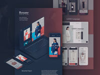 Roxane fashion store presentation on Behance