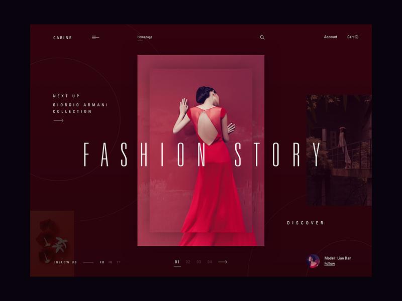 Giorgio Armani - Fashion story webdesign layout web clean typography fashion modern ux ui
