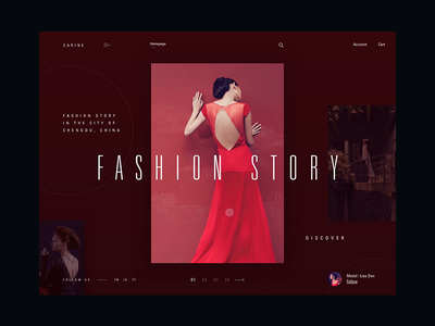 Carine fashion store - interaction concept webdesign principle principleformac interaction animation typography fashion modern ux ui