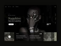 Sapphire jewellery store -  homepage design