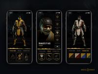 Mortal Kombat 11 - Customise your fighter mobile flow concept