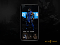 Mortal Kombat 11 -  mobile interaction concept