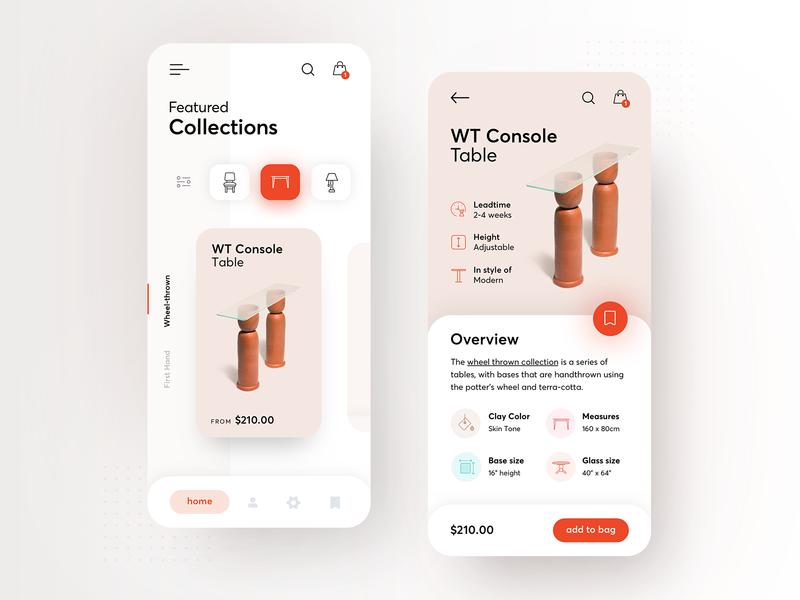 Eny Lee Parker spatial designer - redesign concept productdesign uiuxdesign furniture app clean furniture app typography modern ux ui