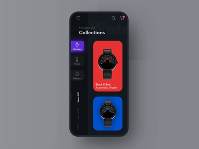 Anicorn watches mobile - interaction concept