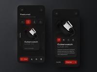 Skeuomorph Anicorn watches mobile app