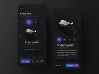 Neumorph / Skeuomorph Anicorn Watches app v2