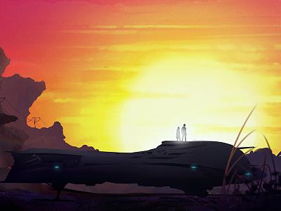890 Jump African Sunset sunny sunshine africa spacecraft 890jump robertspaceindustries starzitizen