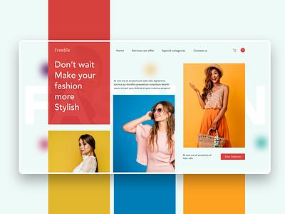 Shopping website banner shopping fashion website