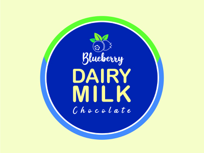 Blueberry Dairy Milk Chocolate Logo design identity iconic logo creative logo graphic design foody logo icon brand logodesign logo