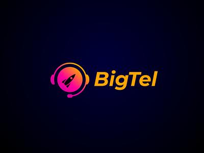 BigTel Logo big logo rocket illustrator vector logotype logobranding identity design icon logodesign logos branding graphic design logo