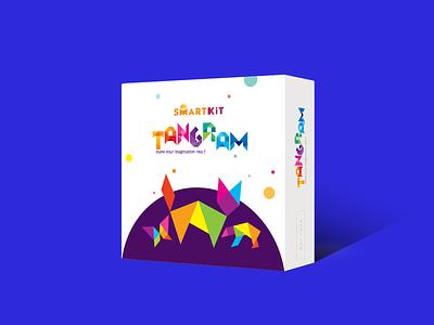 Tangram Packaging Design box design identity design science kit kids brand design vector illustration logo design packaging branding logo graphic design