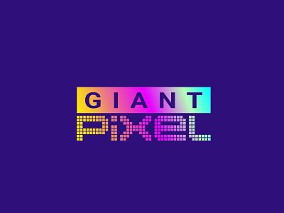 Giant Pixel Logo Design unique typography icon mark graphic design vector illustration branding colorful logo design identity creative logo logodesign logo
