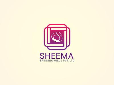Logo design for sheema spinning mills pvt. ltd drawing bangladesh artwork digital art photoshop adobe illstrator brand mark icon identity branding typography vector illustration graphic design design logo design logo