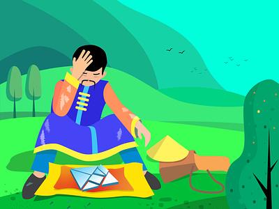 Illustration for Tangram manual ux ui typography logo identity banlgadesh tangram manual drawing artwork art vector art photoshop illustrator adobe graphic design branding vector illustration design