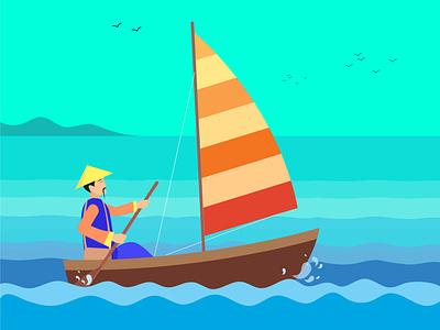 Illustration for Tangram manual 3 kids design kids banglades app ui icon logo manual design cover design book illustration procreate photoshop illustrator adobe landscape graphic design branding vector illustration design