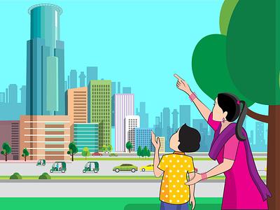 Illustration of Dhaka City city illustration city dhaka best illustration comic photoshop illustrator adobe app graphic design branding vector design painting illustration artwork art