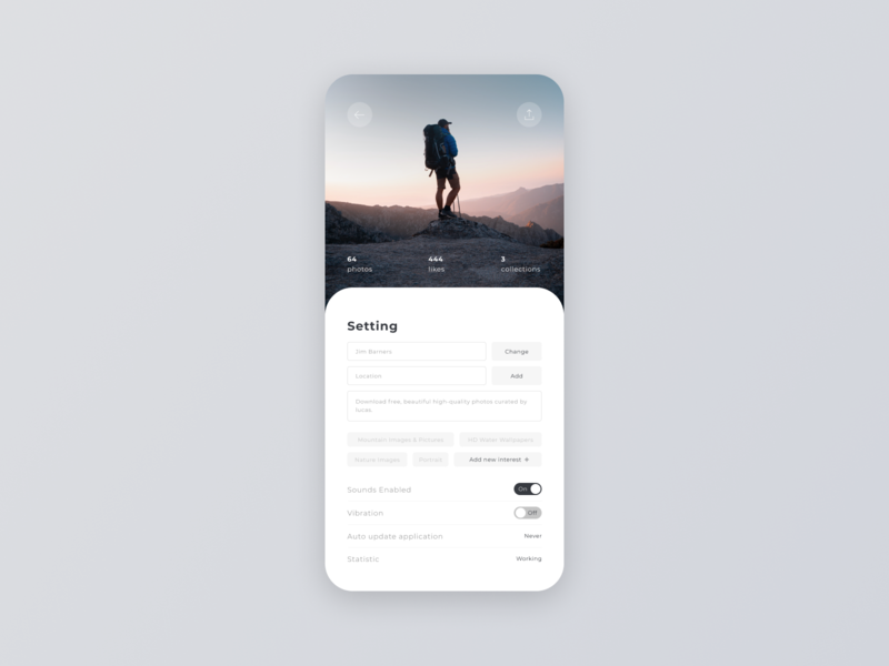 Daily UI #007 – Settings