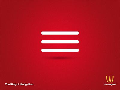 Mc Nav ad fake navigation menu hamburger burger