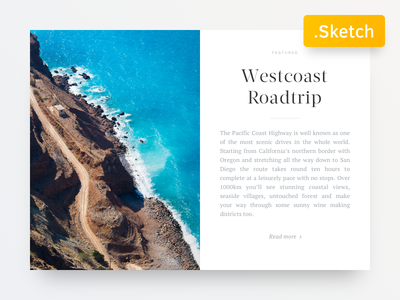 Big Blog Article Card - Free Sketch file included sketch download free card blog minimal ux ui magazin