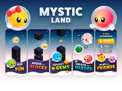 Mystic Land App Store Screenshots store play android apple iphone x ios mobile game