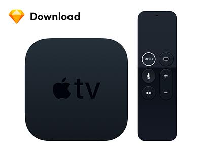Apple TV Mockup Free Sketch Vector Download mockup download vector sketch apple tv mockup