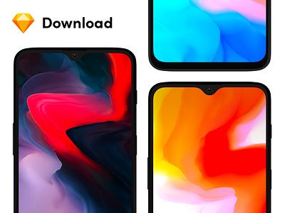 Oneplus 6T | Free Sketch & SVG Mockup sketch device phone download svg vector mockup