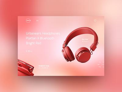 Gradient Headphones Concept #2 uxdesign homepage creativity landing webdesign concept website technical headphones ux ui