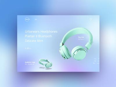 Gradient Headphones Concept #3 uxdesign webdesign landingpage gradient uidesign main page headphone website landing ux ui design